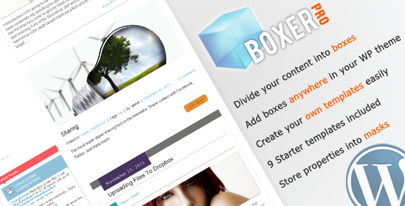 Image for WP Boxer Pro Plugin by CodeCanyon