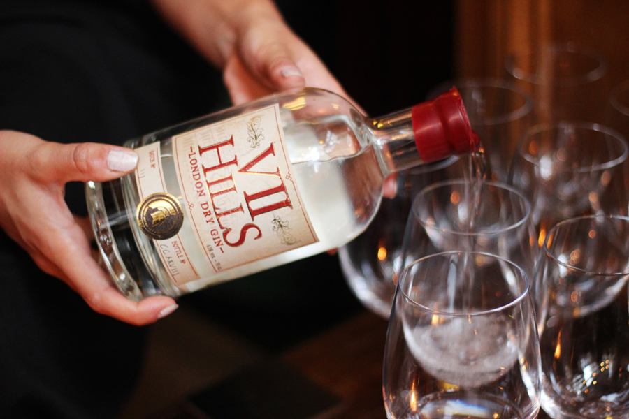 VII Hills gin tasting at Mr Fogg's, Mayfair London