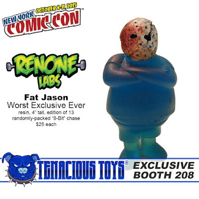"""New York Comic Con 2015 Exclusive Fat Jason """"Worst Exclusive Ever"""" Resin Figure by RenOne"""