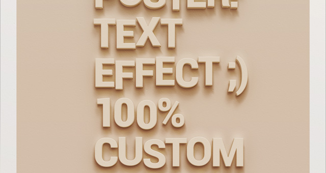 Wall Poster Text Effect PSD