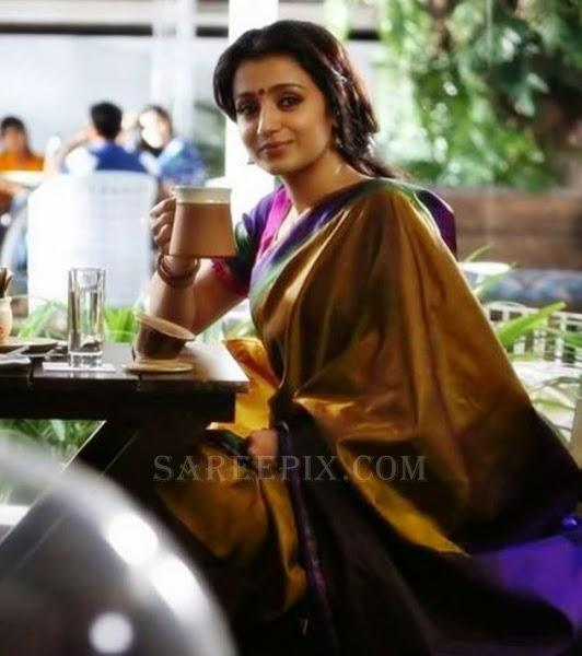 Trisha_silk_saree_Ajith-55-movie