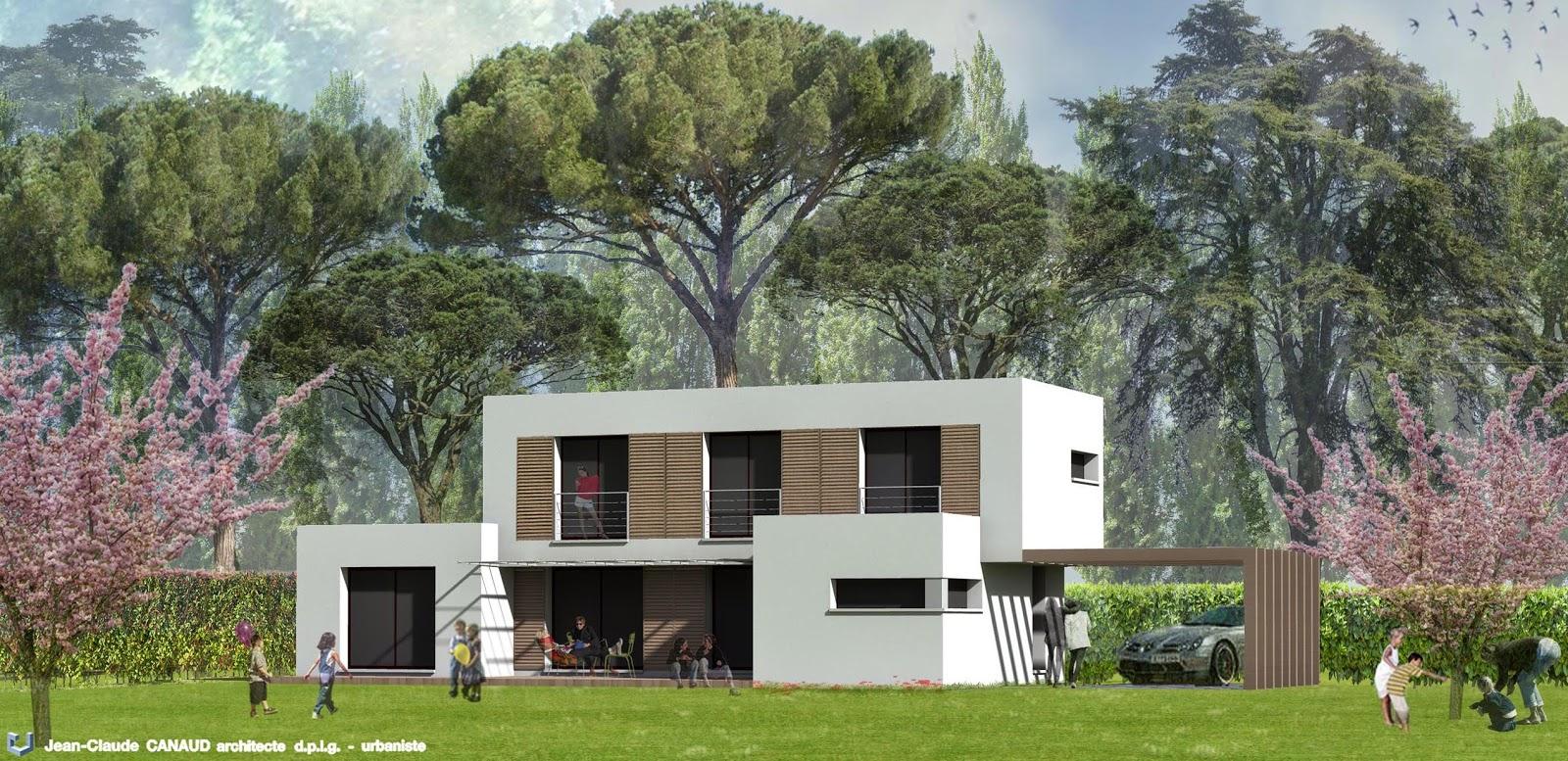 canaud architecte villa contemporaine villeneuve l s avignon gard. Black Bedroom Furniture Sets. Home Design Ideas