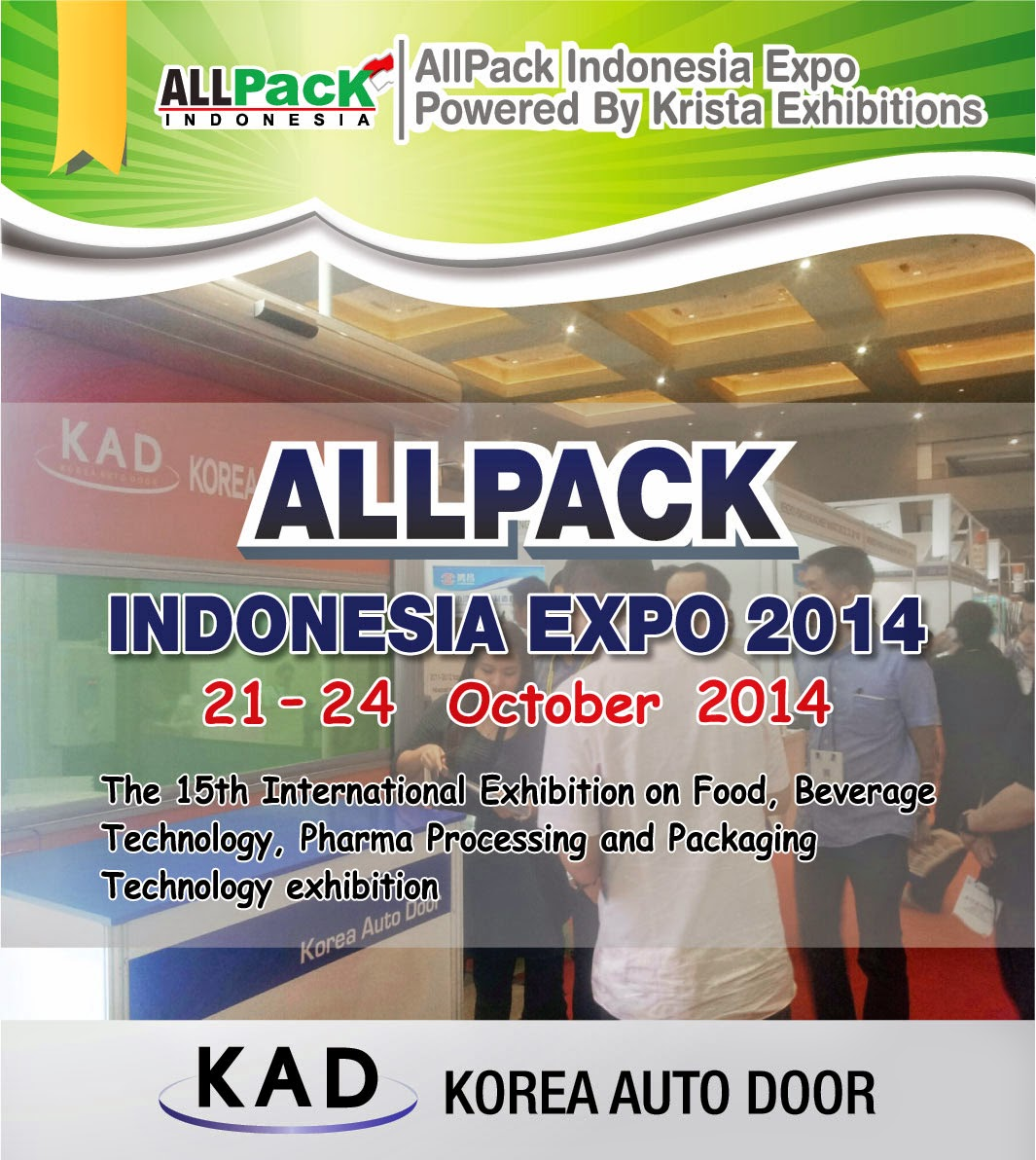 kad high speed door banner of allpack indonesia