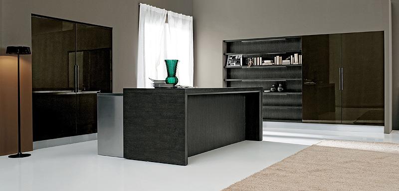 Interiores minimalistas aran cucine pone una isla en el sal n for Interiores minimalistas