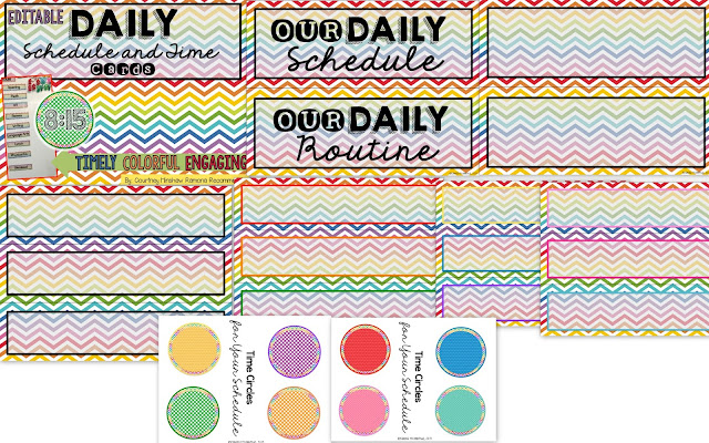 https://www.teacherspayteachers.com/Product/Editable-Schedule-and-Time-Cards-2002243