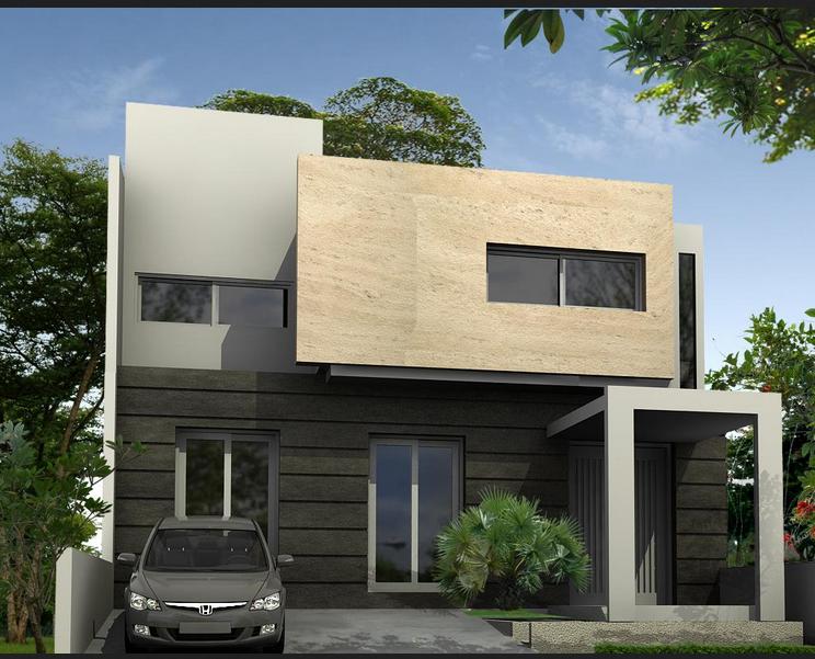 gambar rumah minimalis 1 dan 2 lantai tampak depan modern