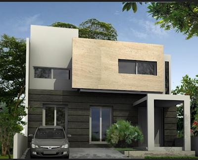 Gambar Rumah Minimalis 2 Lantai Tampak Depan Modern