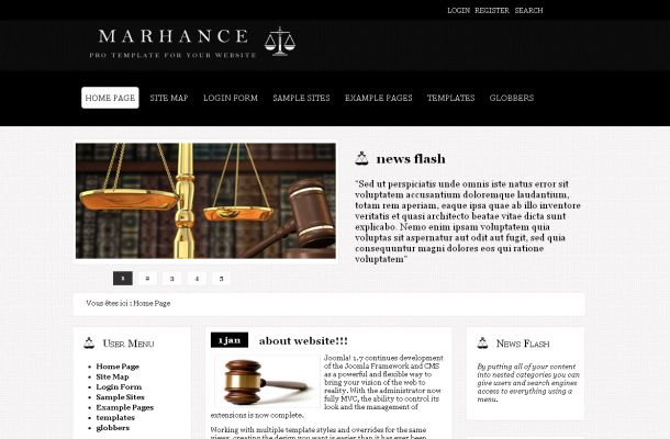 Lawyer Office Black Free Joomla Theme Template