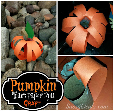 pumpkin toilet paper roll craft