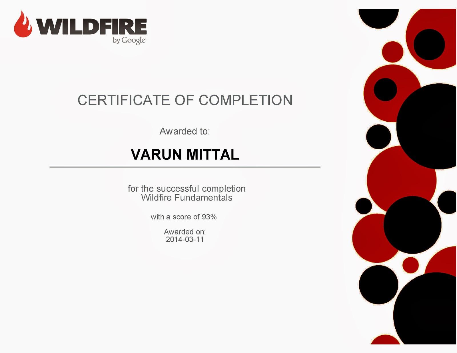 My Certification