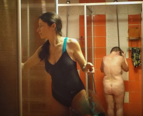 Join Voyeur gym shower video are
