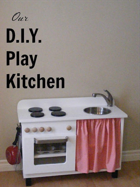Our diy play kitchen the complete guide to imperfect for Small childrens kitchen