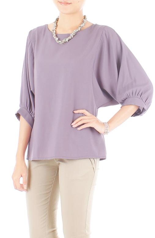 Dolman Back Button Blouse - Lavender