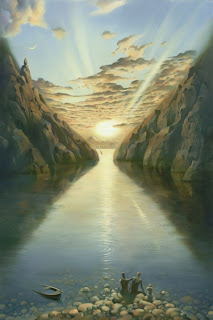 Quadro Tile of Time, de Vladimir Kush.