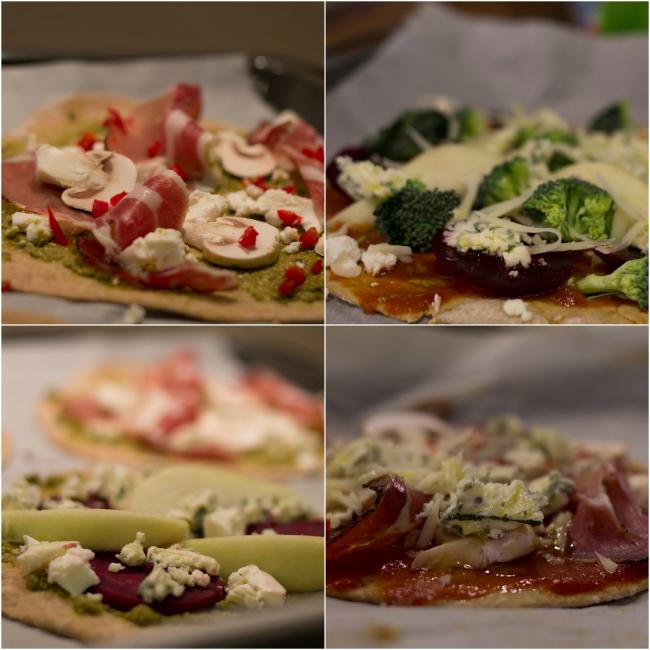 italialaiset pitsat kasvispizza pienet pizzat eri täytteillä