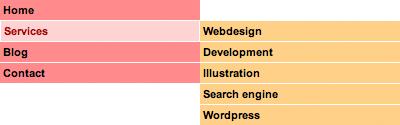 Vertical CSS Menu With a 'Behavior' File