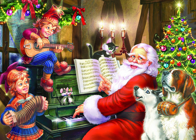 merry christmas santa song wallpaper hd