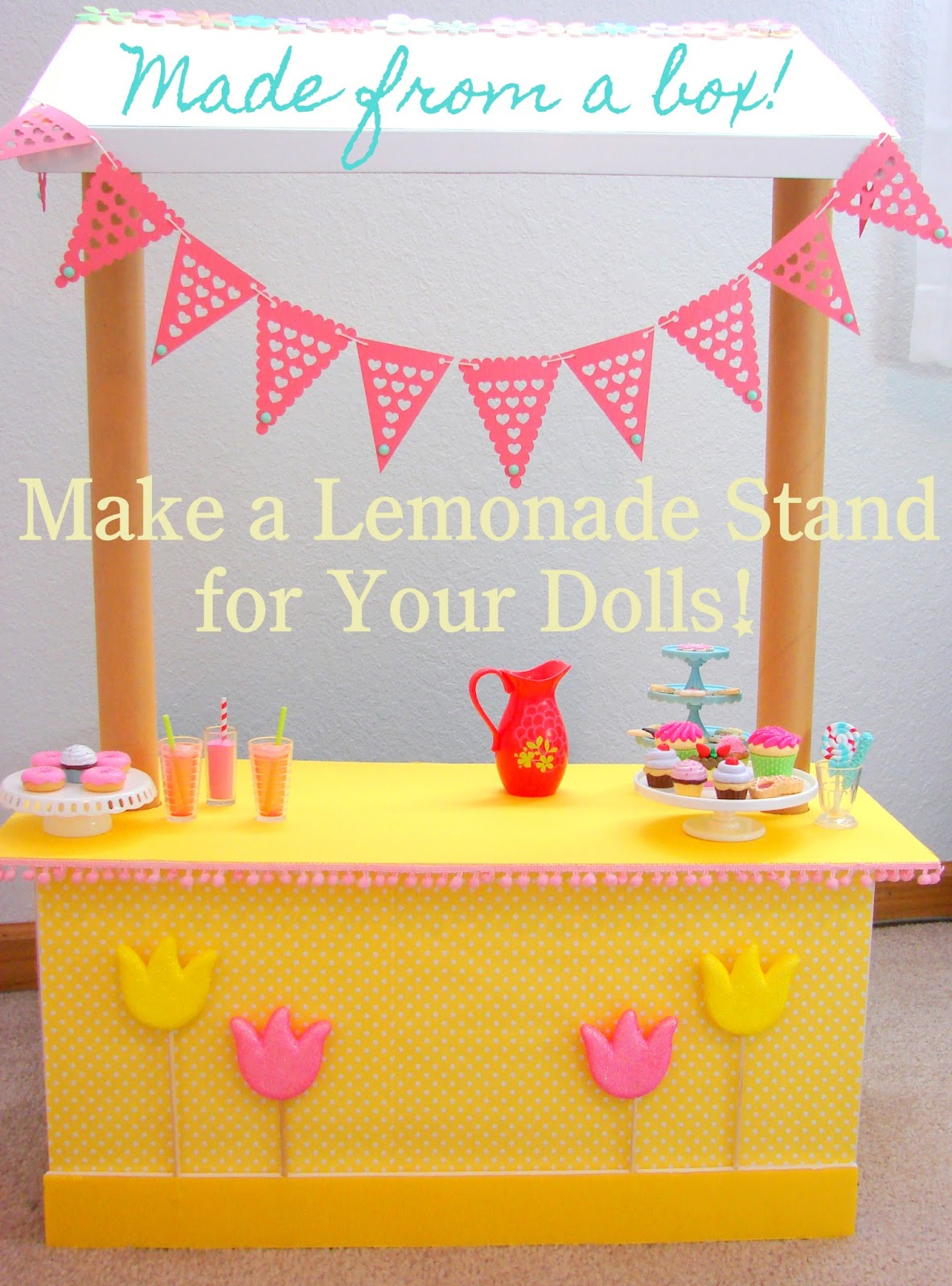 american girl doll play doll craft make a lemonade stand