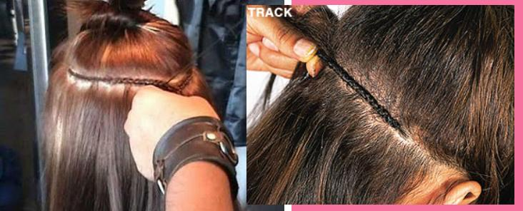 My blog on everthing beauty related more weave in hair they then grab a small section of hair along the part and begin to braidplat across ways creating a track like line as seen below pmusecretfo Choice Image