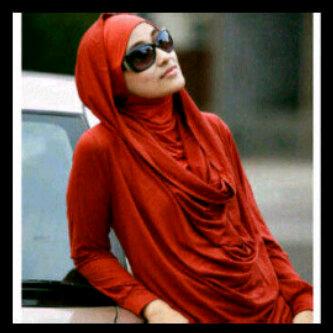 baju muslim merah idr 180000 size s m l