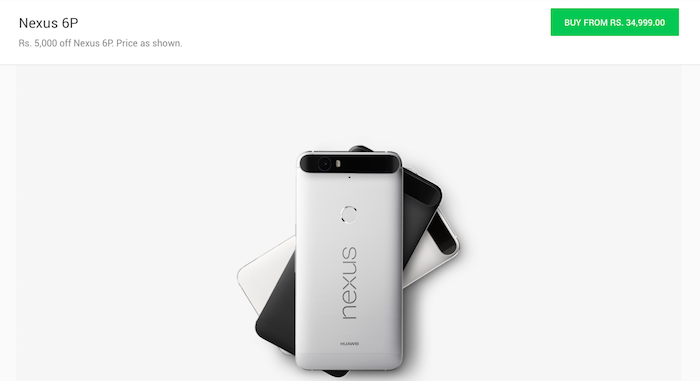 Google Store Giving Rs. 5,000 Off On Nexus 6P