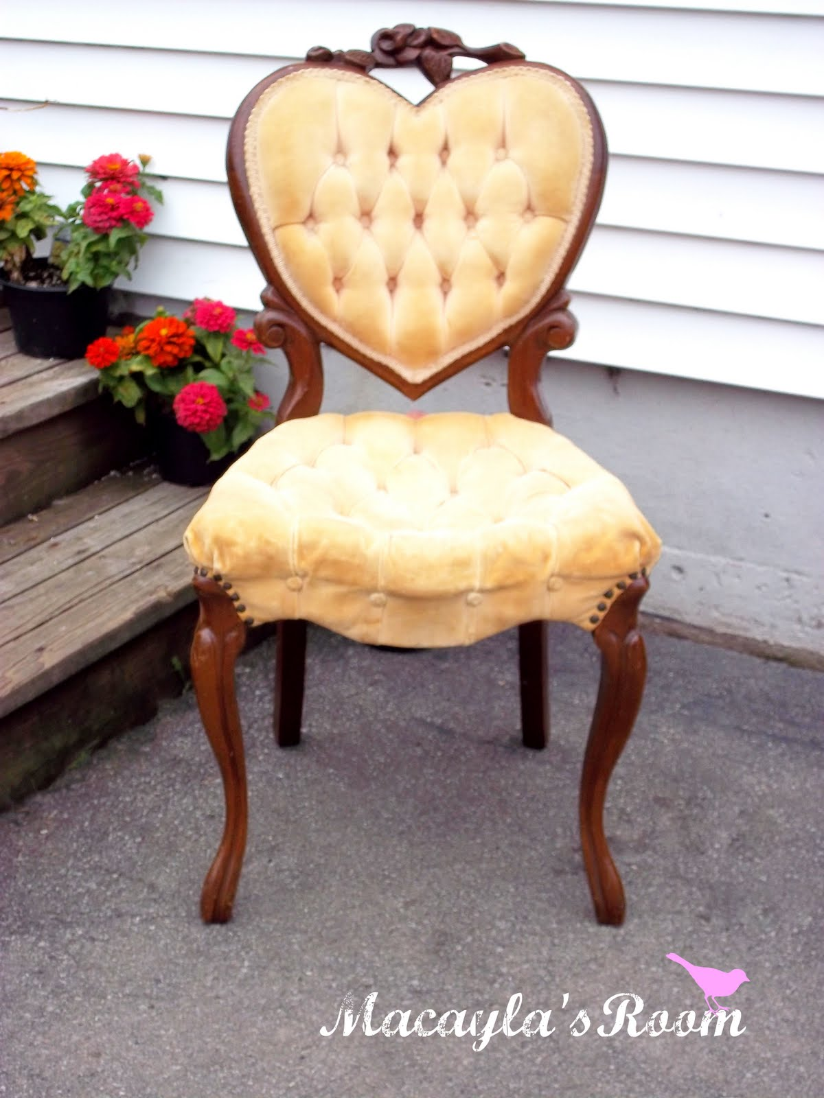 A Heart Back Chair