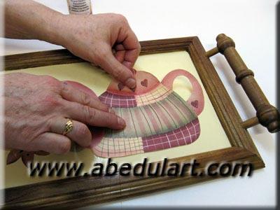 Decoupage f cil for Como pegar papel mural en madera