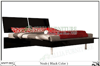 Tempat Tidur Modern Minimalis Noah 180 X 200 Hitam