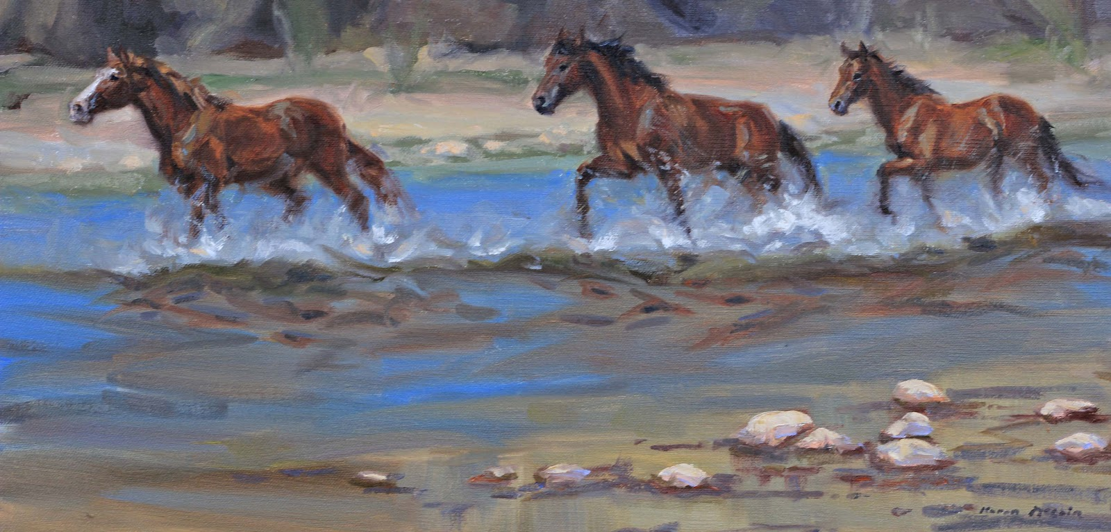 karen mclain studio wild horses running free