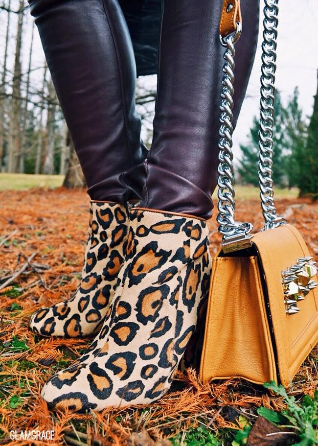 Sam Edelman Leopard wedge boots
