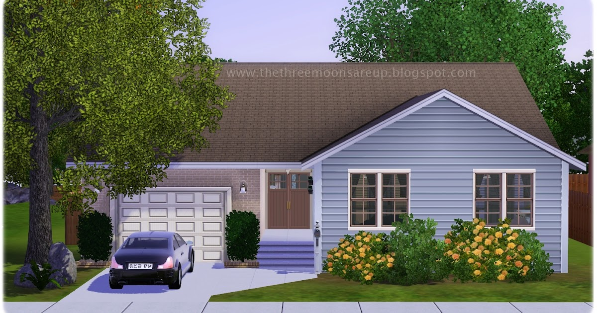 My sims 3 blog small family home by home is where the for Tiny house blog family
