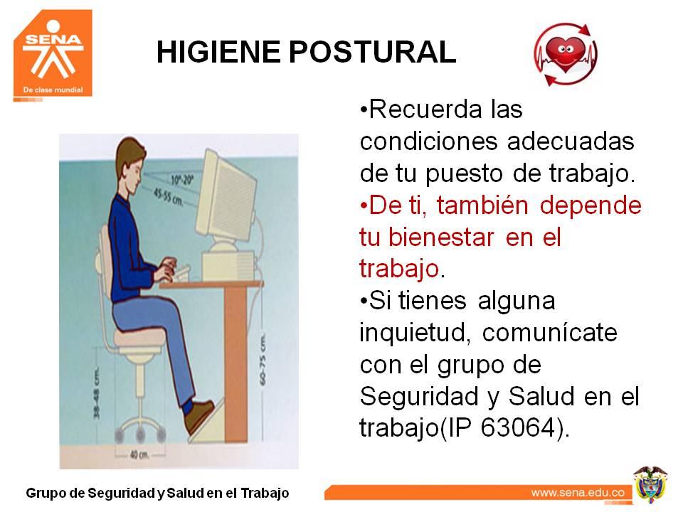 Notisena risaralda llegan las pausas activas for Recomendaciones ergonomicas para trabajo en oficina