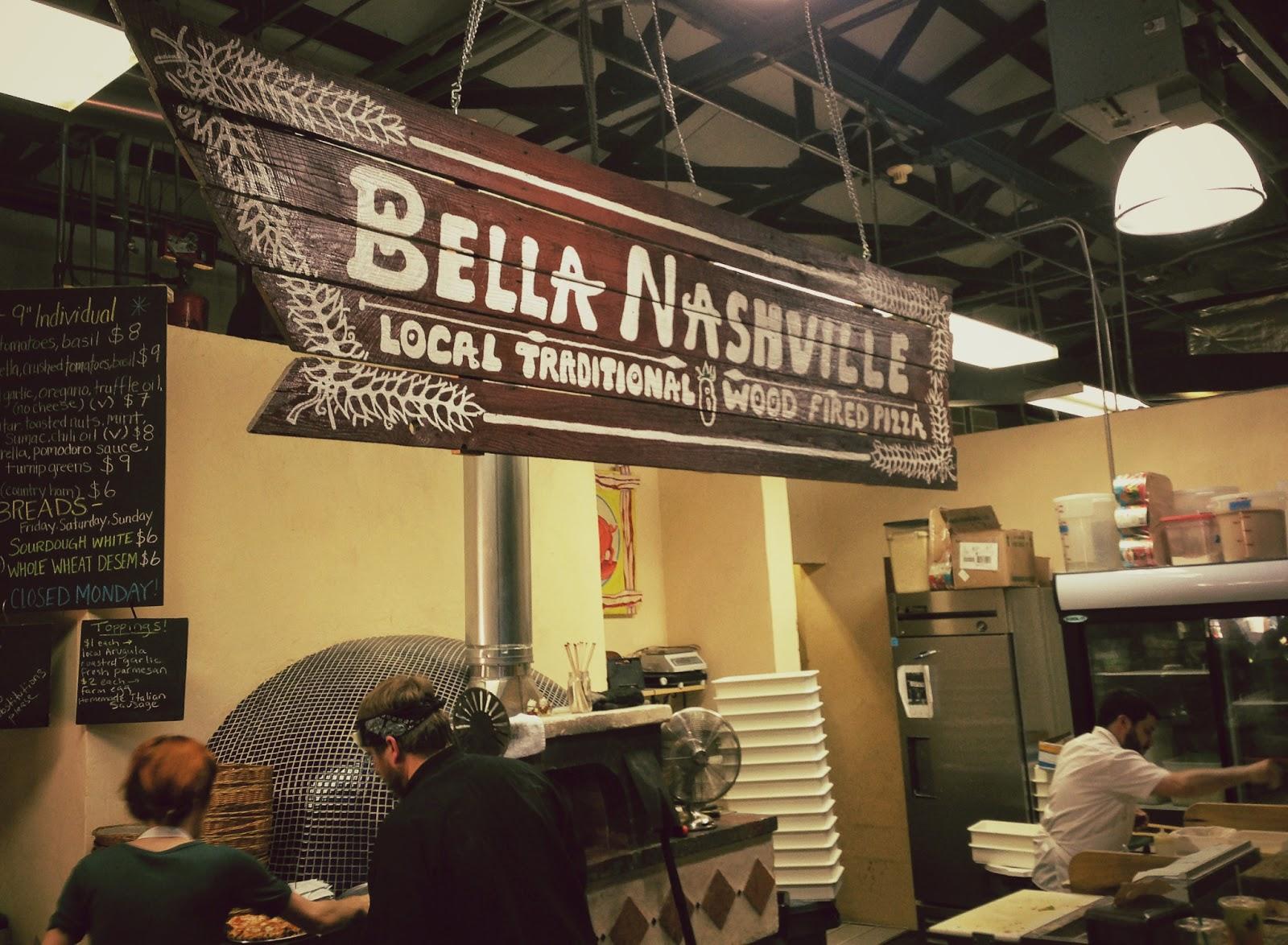Bella Nashville, wood fired pizza in Nashville Tennessee