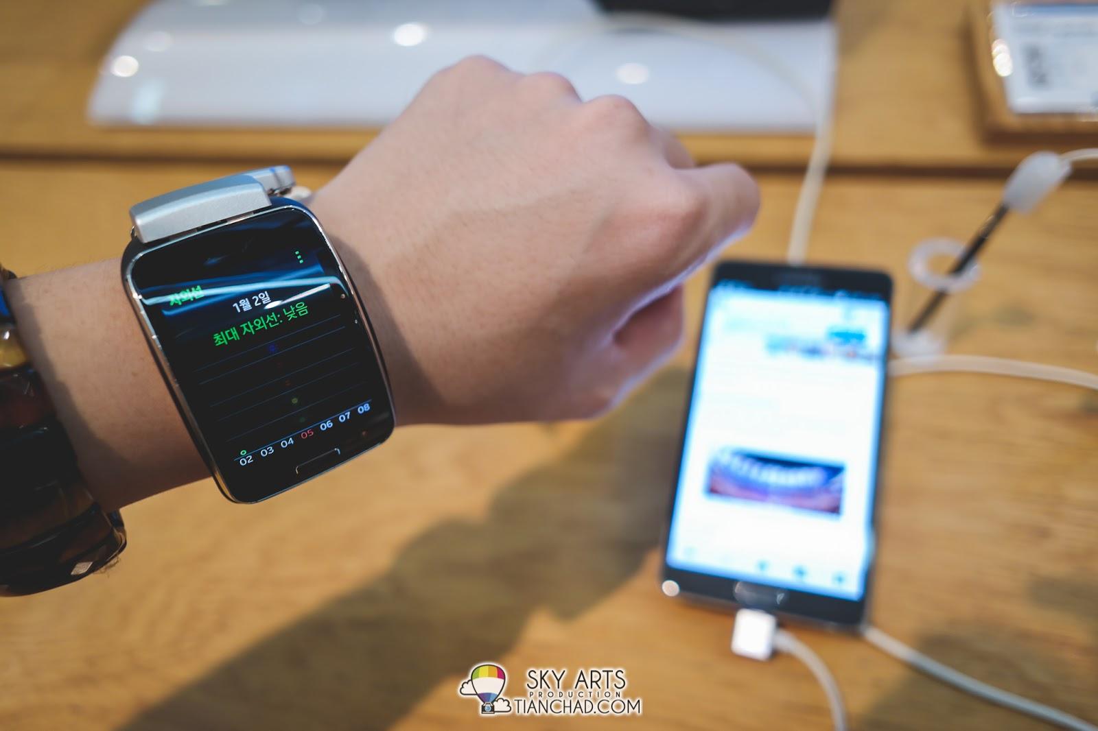 Samsung GALAXY Gear S @ Samsung d'light