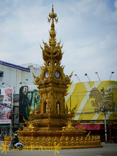 North Thailand - Chiang Rai's Golden Clock Tower