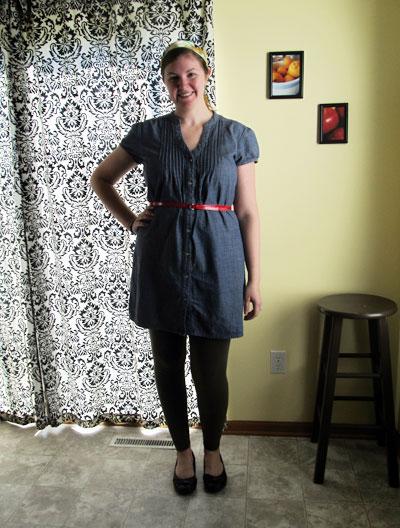 how to make a denim shirt dress