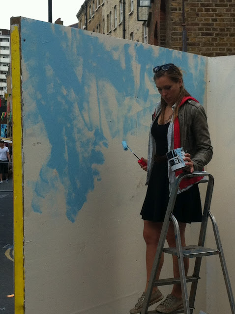 Whitecross+Street+Party+London+Olympics+stall+grafitti+female+artist