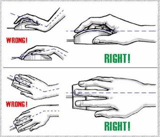 Cara memegang Mouse Yang Baik dan Benar