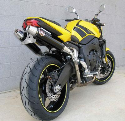 yellow Yamaha FZ1 super bike