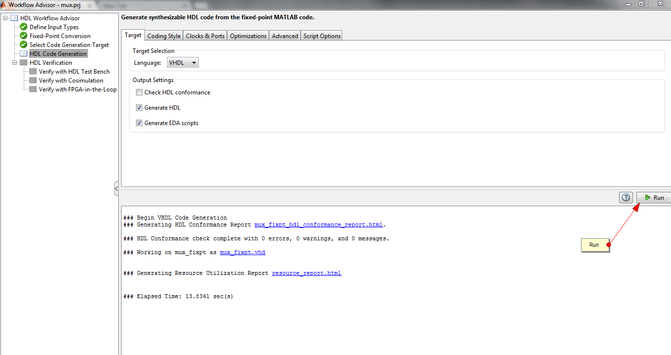 hdl code generation matlab