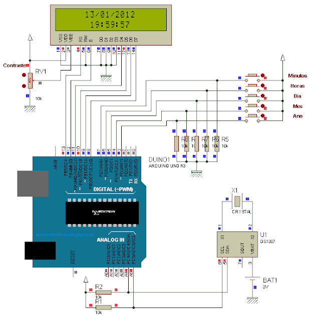 Arduino: Relógio Digital com DS1307