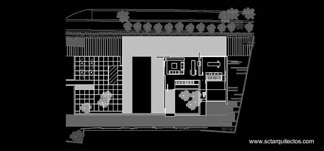 Plano de la planta baja de la residencia