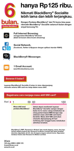 Mybbcurve9300, Paket BlackBerry Full Service 3