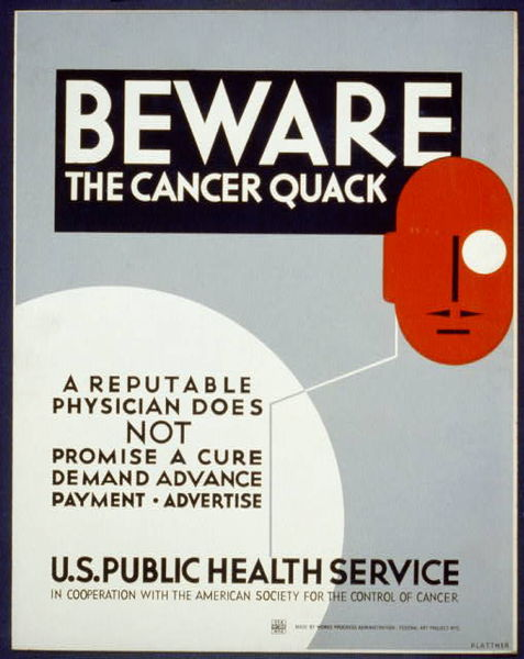 Cancer+Quack+Poster ... to use James Buchanan dollars in gay bath houses and gay strip joints.
