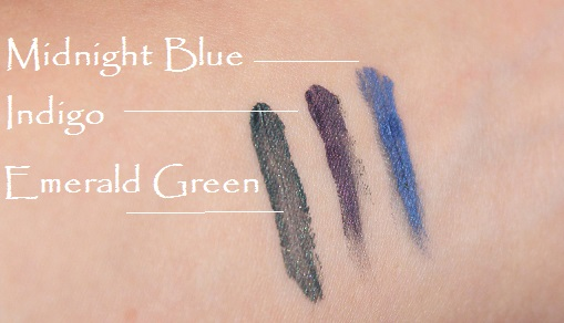 New Cid Cosmetic Emerald Indigo Midnight Blue Swatches