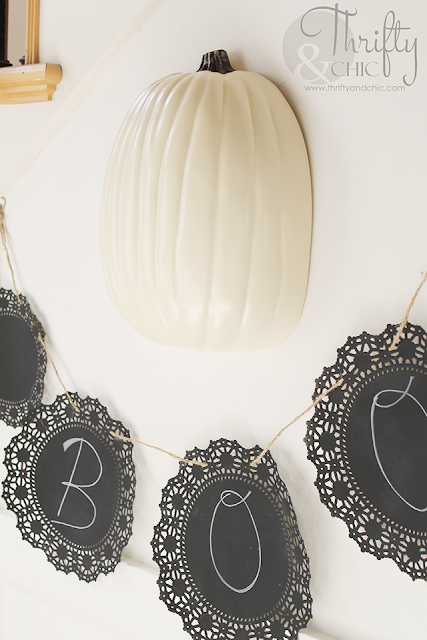 http://www.thriftyandchic.com/2015/10/chalkboard-doily-boo-banner.html