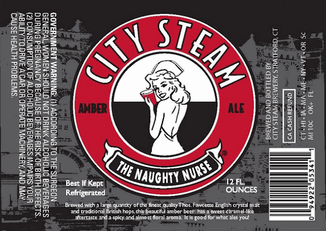 City Steam Naughty Nurse label design