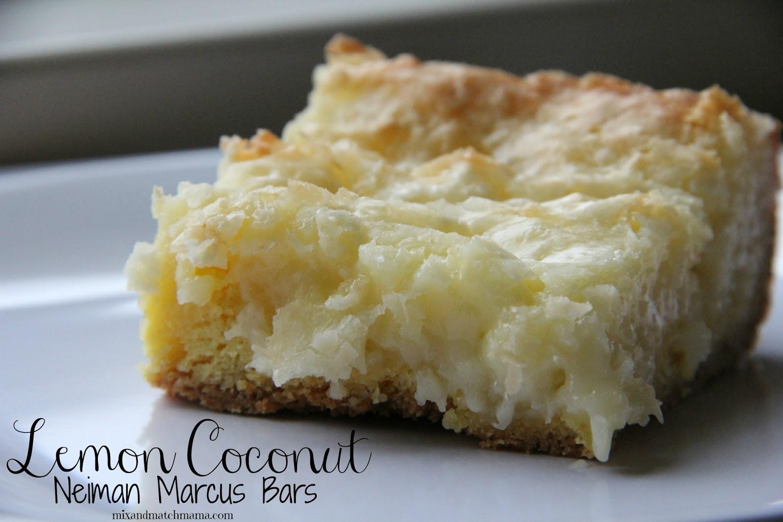 Mmmmm... Lemon Coconut Neiman Marcus Bars . Click here for the yummy ...