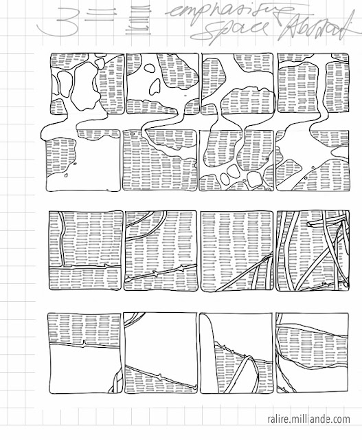 No:::22 Sketchbook Linear Remnants Studies in Line Abstraction -Drawing for Textiles  The Ralire Study by Milliande Demetriou
