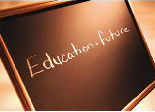 chalk board with education equals future written on it